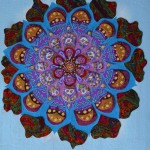 Fabric Mandala 2012 B Craig Mixed media 20x16 inches